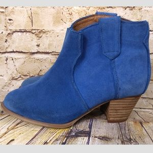 Also Blue Suede Haviax Ankle Shoes Heels Boots